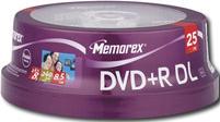 memorex blank dual layer dvd