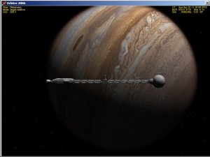 USS Discovery in Jupiter orbit after an eight year trip.
